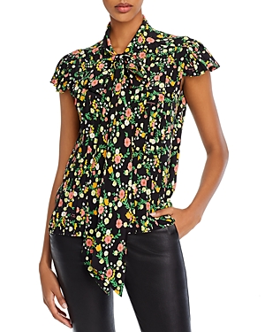Marc Jacobs The Bow Floral-Silk Blouse