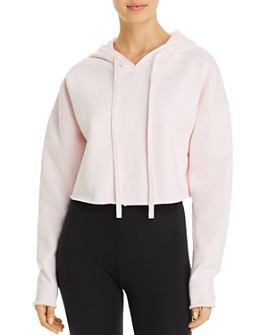 Alo Yoga - Edge Cropped Hooded Sweatshirt