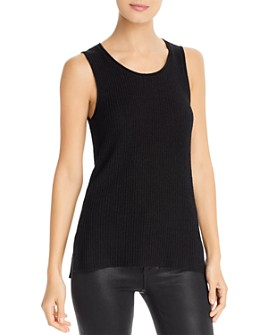 Marled - Rolled Edge Sweater-Knit Tank