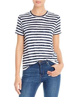 Three Dots - Painted Stripe Short-Sleeve Tee
