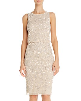 Adrianna Papell - Embellished Cocktail Dress - 100% Exclusive