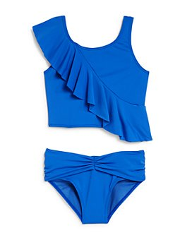 Habitual Kids - Girls' Joelle Ruffled Two-Piece Swimsuit - Little Kid