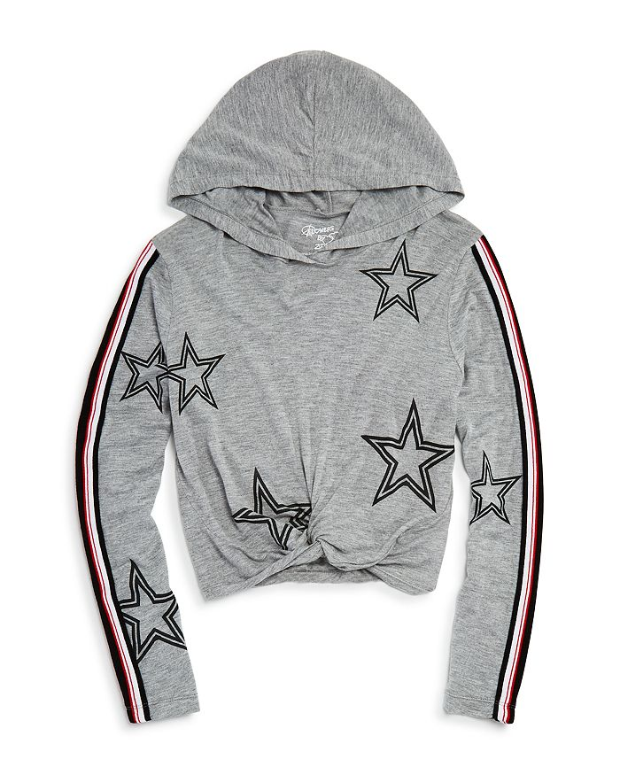 Flowers by Zoe - Girls' Star Print Hooded Tee - Big Kid