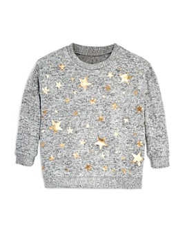 Vintage Havana - Girls' Foil Star Print Sweater - Big Kid