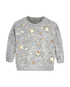 Play Six -  Girls' Foil Star Print Sweater - Little Kid
