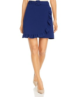 KARL LAGERFELD PARIS - Ruffled Faux-Wrap Mini Skirt