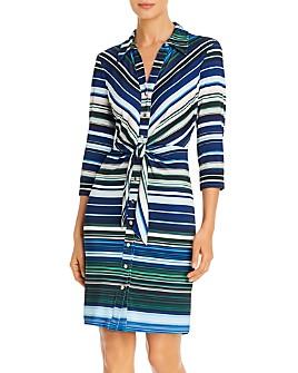 T Tahari - Striped Shirt Dress