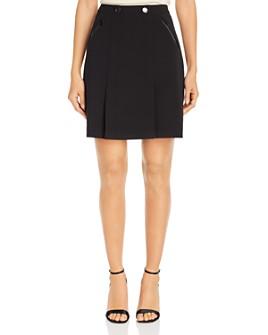 KARL LAGERFELD PARIS - Button-Detail Pleated Mini Skirt