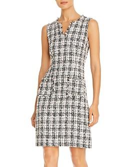 KARL LAGERFELD PARIS - Sleeveless Tweed Sheath Dress