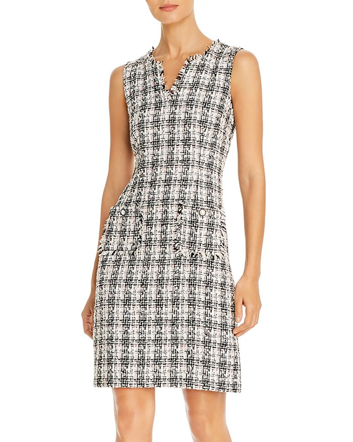 KARL LAGERFELD PARIS - Sleeveless Tweed Sheath Dress