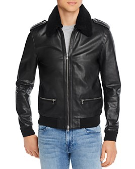 7 For All Mankind - Pebbled-Leather Slim Fit Jacket