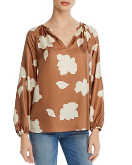 Theory - Floral-Printed Silk Top