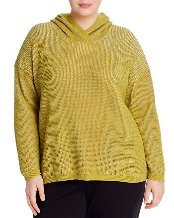 Eileen Fisher Plus - Textured-Knit Hoodie