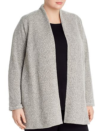 Eileen Fisher Plus - Organic Cotton Open-Front Cardigan