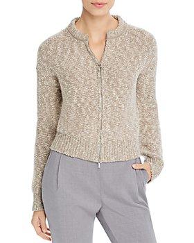 Fabiana Filippi - Marled Knit Zip-Front Cardigan