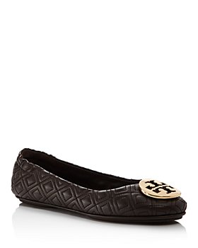 Tory Burch - Women's Minnie Quilted Leather Travel Ballet Flats