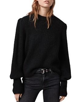 ALLSAINTS - Mrya Shine Puff-Sleeve Sweater
