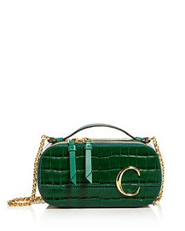 Chloé - Croc-Embossed Leather Camera Crossbody