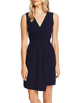 VINCE CAMUTO - Sleeveless Faux-Wrap Dress