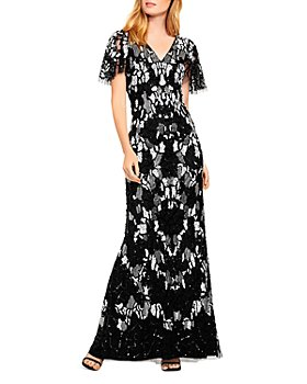 Aidan Mattox - Beaded V-Neck Dress