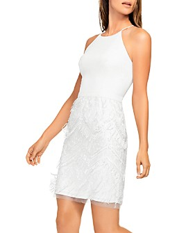 Aidan by Aidan Mattox - Embroidered Fringe Cocktail Dress