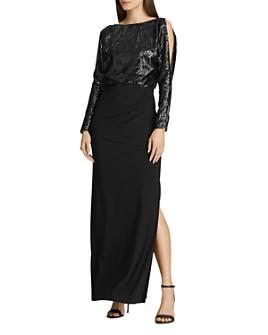 Ralph Lauren - Sequined-Bodice Jersey Gown