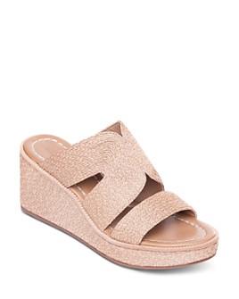 Bernardo - Women's Kaia Raffia Wedge Heel Sandals