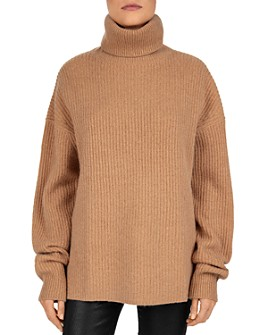 The Kooples - Smooth Mix Wool & Cashmere Turtleneck Sweater