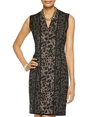 Misook Leopard Print Knit Sheath Dress