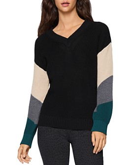 BCBGENERATION - Striped-Sleeve Sweater