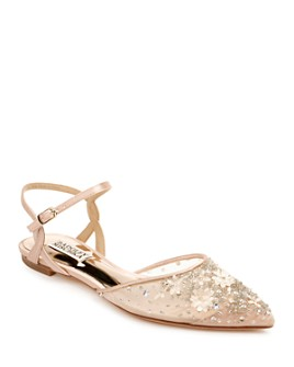 Badgley Mischka - Women's Carissa Beaded Mesh Flats