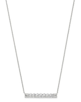 Bloomingdale's - Diamond Bar Necklace in 14K White Gold, 0.5 ct. t.w. - 100% Exclusive