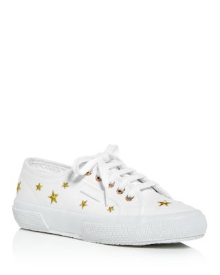 Embroidered Star Low-Top Sneakers
