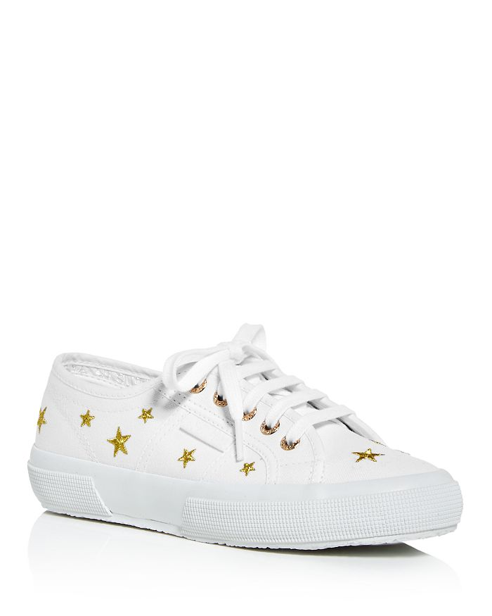 Superga - Women's Embroidered Star Low-Top Sneakers
