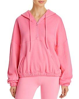 Alo Yoga - Stadium Quarter-Zip Hooded Sweatshirt
