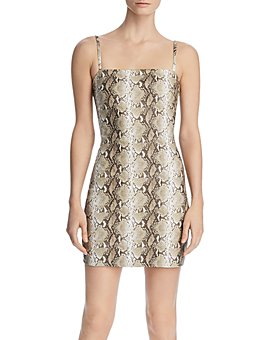 Tiger Mist - Viper Sleeveless Faux-Leather Dress