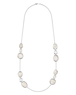 IPPOLITA - Sterling Silver Ondine Clear Quartz & Mother-of-Pearl Station Necklace, 38""