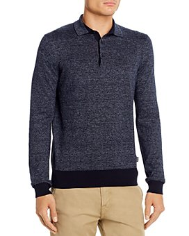 BOSS - Ostini Long-Sleeve Regular Fit Polo Shirt