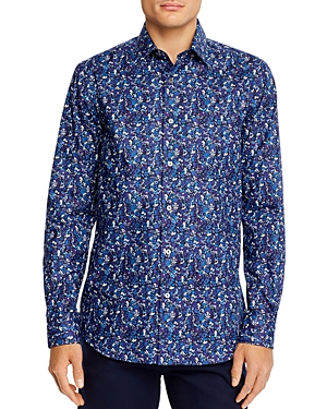Paul Smith Soho Floral Button-Down Slim Fit Shirt