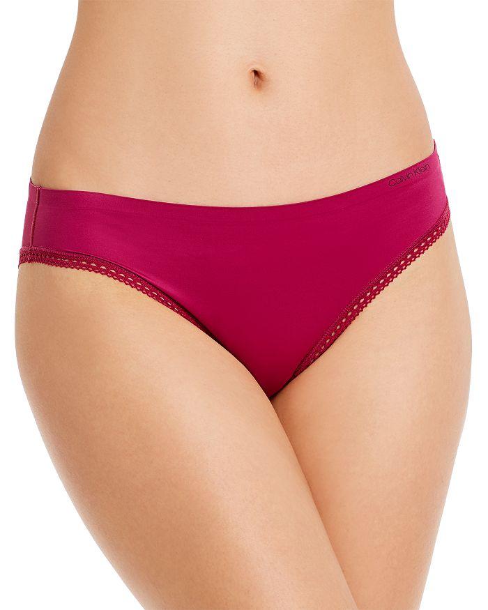 Calvin Klein - Liquid Touch Lace-Trimmed Bikini