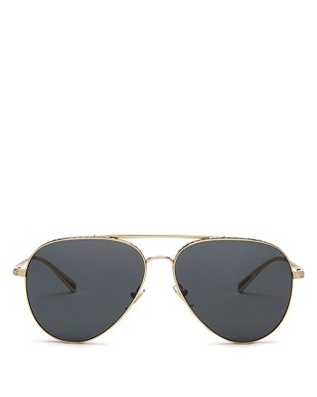 Versace - Unisex Brow Bar Aviator Sunglasses, 59mm
