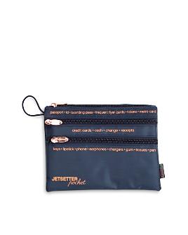 """Miamica - """"Jetsetter Essentials"""" 3-Zip Travel Organizer Pouch"""