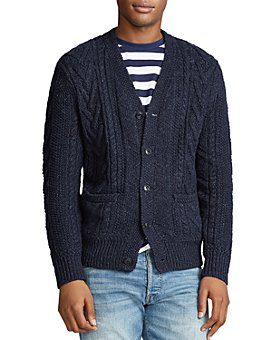 Polo Ralph Lauren - Aran Cotton-Blend Cardigan Sweater