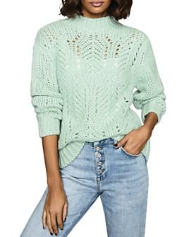 REISS - Amber Openwork Sweater