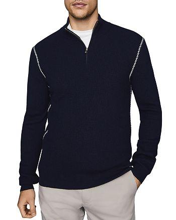 REISS - Luis Seam-Detail Ribbed Sweater