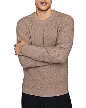 REISS - Redman Basketweave-Stitch Crewneck Sweater