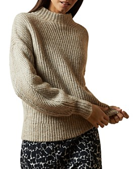 Ted Baker - Gorrga Funnel-Neck Ribbed Sweater