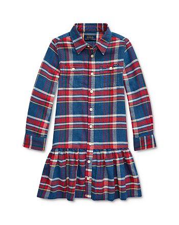 Ralph Lauren - Girls' Plaid Shirt Dress - Little Kid