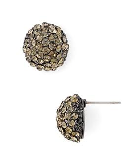 AQUA - Glass Stone Cluster Stud Earrings in Brass