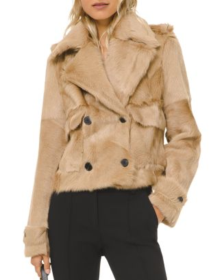 Double Breasted Real Goat Fur Jacket by Michael Michael Kors